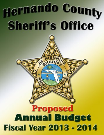 2013-2014 Proposed Annual Budget - Hernando County Sheriff's ...