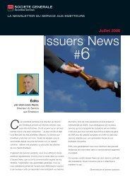 issuers news 6 - Société Générale Securities Services
