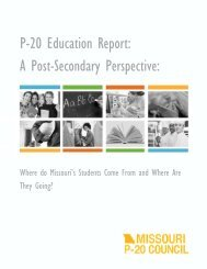 P-20 Education Report - Ozarks Technical Community College
