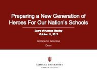 Presentation Title - School of Education - Indiana University