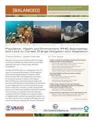 Population, Health And Environment (PHE) - Coastal Resources ...