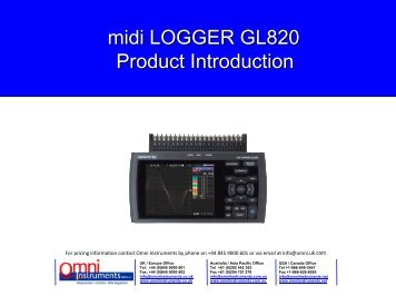 GL820 Product Introduction - Omni Instruments