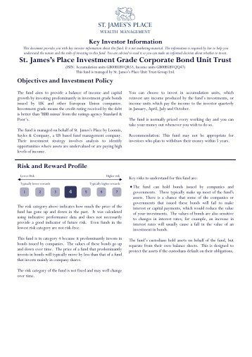 Investment Grade Corporate Bond - St James's Place