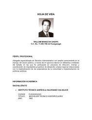 WILLIAM MAHECHA SASIPA - Sitio web del municipio Silvania en ...