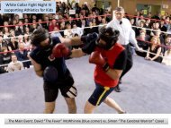 White Collar Fight Night IV supporting Athletics for Kids - Farris
