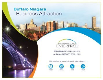 BNE 2010 annual report - Buffalo Niagara Enterprise
