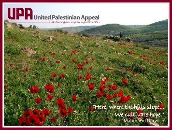 2013 UPA Wall Calendar - United Palestinian Appeal