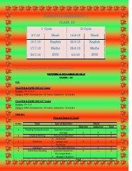 FORMATIVE ASSESSMENT -2 CLASS III I Cycle II ... - DPS Raipur