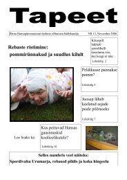 November 2006 - Pärnu Hansagümnaasiumi avaleht