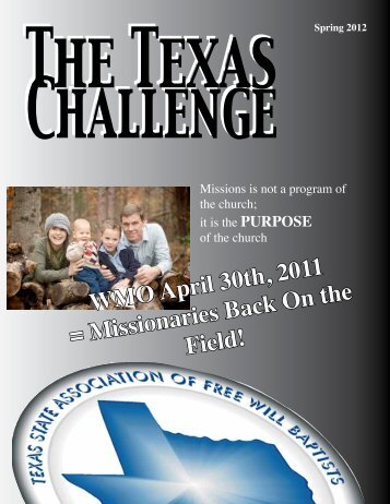 Spring 2012 Texas Challenge - Texas State Association of Free Will ...