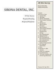 Sirona Dental, Inc. - Sirona Support