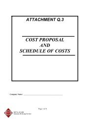 Attachment Q.3 - Cost Proposal and Schedule of Costs