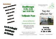 Flyer Tag der offenen Tür 2013 - Bürgerheim Rheinfelden