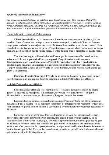 Approche spirituelle de la naissance Les processus ... - Webagoo.eu