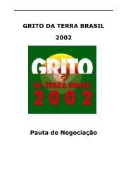 GRITO DA TERRA BRASIL 2002 Pauta de Negociação - Contag