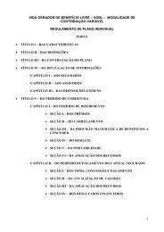 Regulamento Santander Prev Educar VGBL