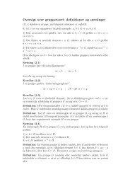Oversigt over gruppeteori: definitioner og sætninger