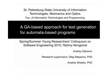 A GA-based approach for test generation for automata-based ...