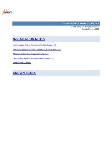 INSTALLATION NOTES KNOWN ISSUES - Battlogg Design