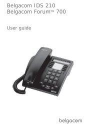 User guide Forum IDS 210 - Belgacom