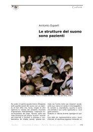 Le strutture del suono sono pazienti - Amaltea