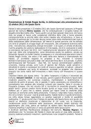 Presentazione Fablab - Dichiarazioni.pdf - Comune di Reggio Emilia