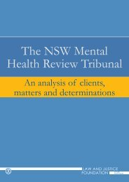The NSW Mental Health Review Tribunal - Law and Justice ...
