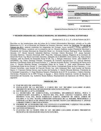 Acta No. 1 - Municipio Soledad de Graciano Sanchez