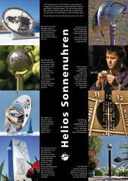 Helios Sonnenuhren mit Preisliste (PDF)