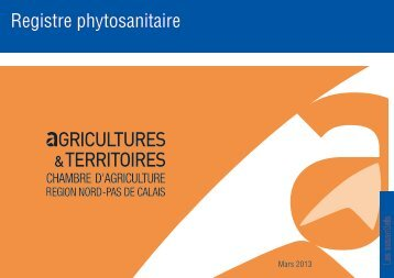 Registre phytosanitaire - Chambre d'agriculture