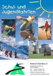Katalog 2013 - Arbeitskreis für Schülerfahrten eV - Paketreisen.de