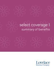 Select Coverage I 1250 - Lovelace Health Plan
