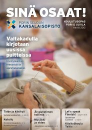 keväällä 2012 ulvilassa alkavat kurssit - Pori