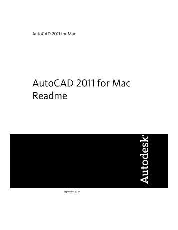 AutoCAD 2011 for Mac Readme - Autodesk