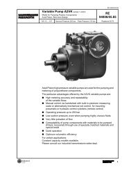 Variable Displacement Pump - Airline Hydraulics