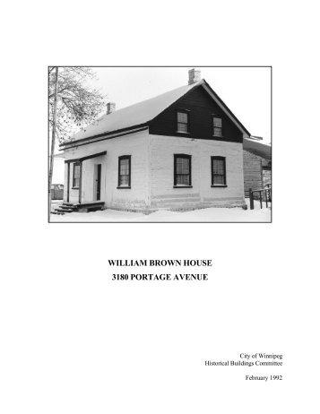 william brown house 3180 portage avenue - City of Winnipeg