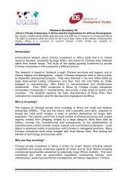 Research Summary 39 - Institute of Development Studies
