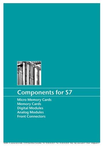 HELMHOLZ - Documentation: Composants pour S7 - Audin