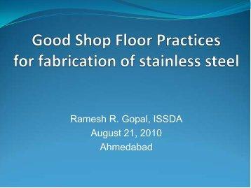 Good Shop Floor Practices - Indian Stainless Steel Development ...