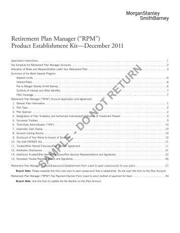 RPM - Morgan Stanley Smith Barney
