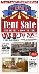 SHOP THE TENT • SHOP THE STORE - Levin Furniture