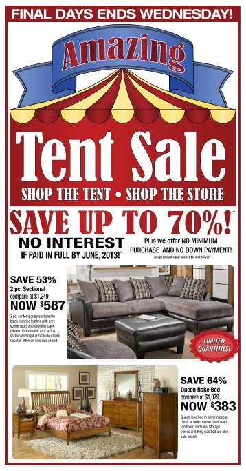 SHOP THE TENT • SHOP THE STORE - Levin Furniture