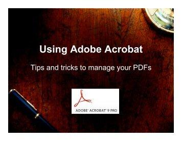 Using Adobe Acrobat