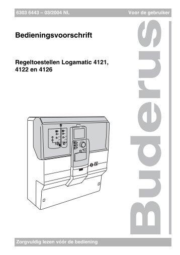 Regeltoestellen Logamatic 4121, 4122 en 4126