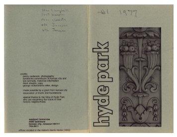 1977 - Hyde Park Neighborhood Association