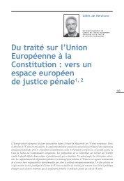 Du traité sur l'Union Européenne à la Constitution : vers ... - Infoeuropa