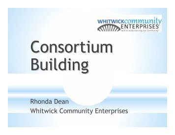 Rhonda Dean Whitwick Community Enterprises - One East Midlands
