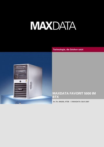 MAXDATA FAVORIT 5000 IM BTX