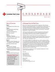 Newsletter Mar 2007.indd - Croix-Rouge canadienne