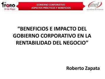 gobierno corporativo aspectos prácticos y beneficios - IMEF